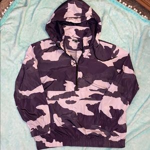 Purple camo wind breaker